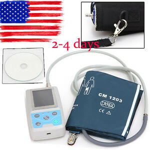 Us Contec Nibp Ambulatory Blood Pressure Monitor Holter Abpm adult Cuff 24 Hour