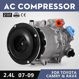 New Ac Compressor Fit 2006 2008 Toyota Rav4 2007 2009 Camry 2 4l L4 Great
