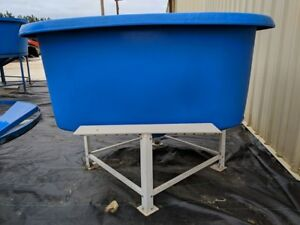 450 Gallon Poly Plastic Square Tank With Metal Stand
