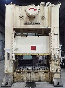 Danly 250 Ton Straight Side Press Model Ss2 250 84 36