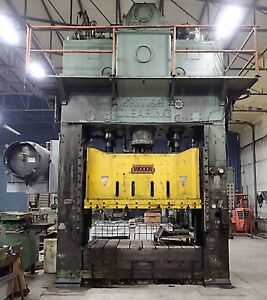 British Clearing 660 Ton Straight Side Press Model S4 650 108 64
