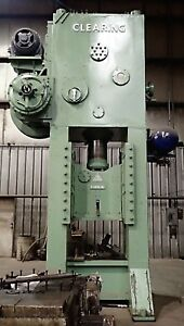 Clearing 400 Ton Straight Side Press Model F 1400 42