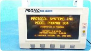 Protocol Systems Propaq 104 100 Series Multi parameter Patient Monitor 158682