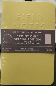 Field Notes X Point Oh Limited Edition Sealed 3 pack New And Unused