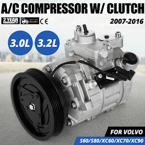 Get Ac Compressor For Volvo V70 S80 Xc60 S60 Xc70 Xc90 Land Rover 67675 Motor