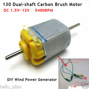 100pcs Dc 3v 12v 5400rpm Long Double Shaft Mini 130 Motor Carbon Brush Motor Diy