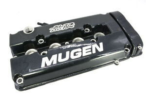 Carbon Mugen Style Engine Valve Cover For 1999 2000 Honda Civic Si Dohc Vtec