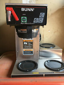 Bunn Cdbcf15 Commercial Coffee Pot Brewer 3 Warmers Digital Control 4 Carafe
