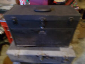 Vintage Kennedy Machinist Tool Box Locking With The Key Felt Lined