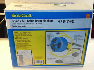Brasscraft 5 16 In X 50 Ft Cable Drum Machine Used
