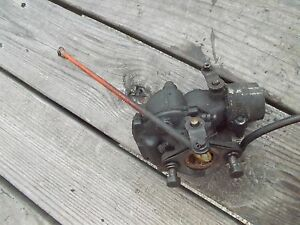 Allis Chalmers B Tractor Zenith Carburetor Ac W Linkage Rod Gas Line