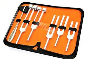 6 Tuning Fork Set Medical Surgical Chiropractic Physical Diagnostic Instruments