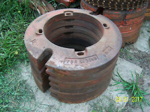 Vintage Minneapolis Moline Tractor Wheel Weights Ut 518 Mm