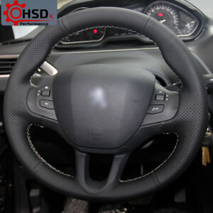 Hand Stitched Sewing Leather Steering Wheel Cover For Peugeot 208 Peugeot 2008