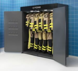 Ppe Drying Cabinet For Turnout Bunker Fire Gear Gloves Masks Boots Hoses Podab