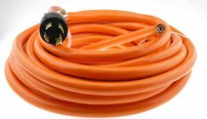 30 Amp 40 Ft Nema L14 30 4 Wire 10 Gauge Generator Power Cord Whip