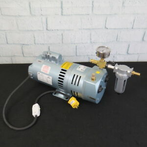 Gast 1 2hp Rotary Vane Oil less Vacuum Pump For Dairy Cow Goat Sheep Or Pond Air
