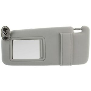 New Gray Sun Visor Left Driver For 2007 2011 Toyota Camry Without Vanity Light