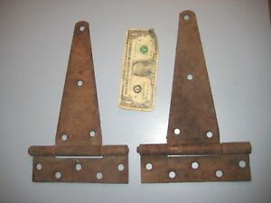 2 Quality Large Vintage Surface Mount Door Strap Hinges Barn Stable Shed 7 X 12