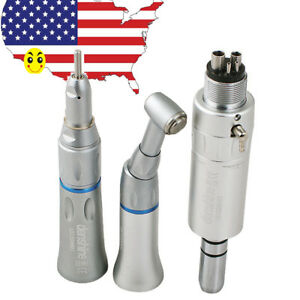 Usa Complete Kit Dental Slow Low Speed Handpiece Push Button 4hole Ex 203c Set
