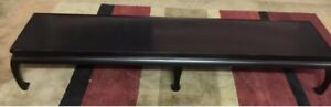 Vintage Eames Era Mcm Asian Inspired Extra Long Coffee Table Very Nice