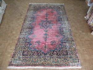 9 10 X 16 10 Hand Knotted Pink Persian Fine Antique Kerman Oriental Rug G1880