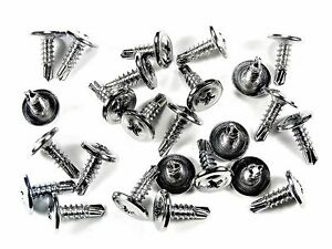 Gm Chrome Wheel Well Trim Molding Screws Self Tap Low Profile 25 Screws 230