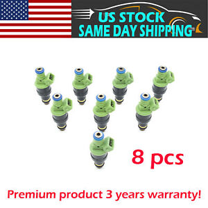 8pcs 42lb 440cc Ev1 Fuel Injectors For Gm Lt1 Ls1 Ls6 Ford Mustang Sohc Dohc