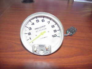 Autometer Pro Comp Ultra Lite Memory Tachometer 0 10 000 Rpm Std Ignition 4494