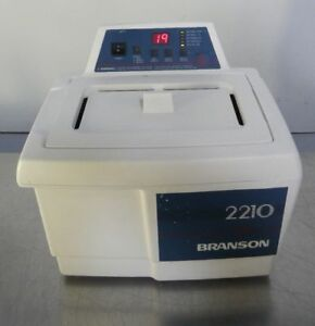 Branson 2210 Digital Ultrasonic Cleaner Water Bath With Heat And Timer With Lid