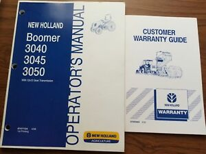 New Holland Tractor Operator Manual Boomer 3040 3045 And 3050