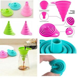 Silicone Foldable Collapsible Funnel Liquid Powder Transfer Home Kitchen Tool