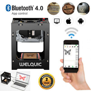 Welquic 1500mw Bluetooth Laser Engraving Machine Engraver Cutter 3d Carver Usb