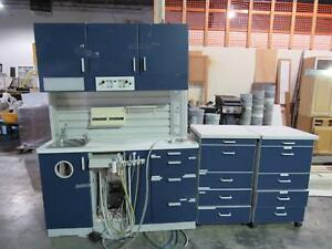 Dental Cabinets Blue With Attachments
