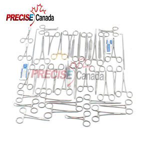 90 Pcs Canine feline Spay Pack Veterinary Surgical Instruments