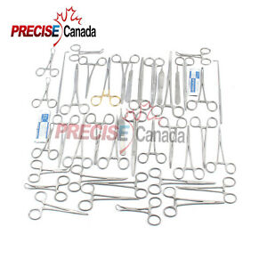 90 Pcs Canine feline Spay Pack Veterinary Surgical Instruments Ds 1083