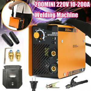 220v Zx7 200 Portable Mma Arc Welder Welding Machine Soldering Inverter 10 200a