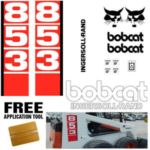 Bobcat 853 V1 Skid Steer Set Vinyl Decal Sticker Bob Cat Made In Usa Free Tool