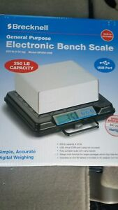 Brecknell Gp250 usb Digital Shipping Scale 250lbs W Backlit Lcd Portable