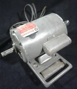 Vintage Delta Rockwell 34 HP 3450 RPM Dual Shaft 1 Phase Motor