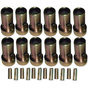 6 Pair Of Category Ii Quick Hitch Bushings Roll Pins Cat 2 Tractor Bushing Set