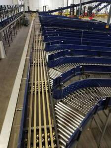 Vanderlande Narrow Multi Belt Sorter Sortation Conveyor Right Hand 24 X 41 1