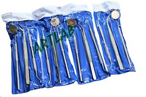 4 German Basic Dental Sets Explorer Probe dental Mirror college Cotton Plier