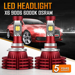 2x Osram Led Headlight Kit 9006 Hb4 1350w 6000k 202500lm Bulbs Replace Hid 6000k