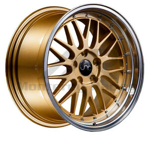 18x8 18x10 5x110 Jnc 005 Gold Machine Made For Pontiac Saab Saturn Dodge