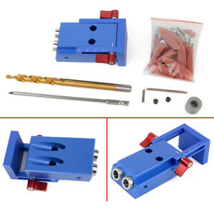 Magideal Mini Pocket Hole Jig Kit System For Wood Working Joinery Tool Set