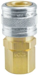 5 Foster 4204 Brass Quick Coupler 3 8 X 3 8 Npt Fittings