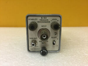 Tektronix S 53 Dc To 1 Ghz 15 Ps 50 Ohm Trigger Recognizer For 7s12 Tested