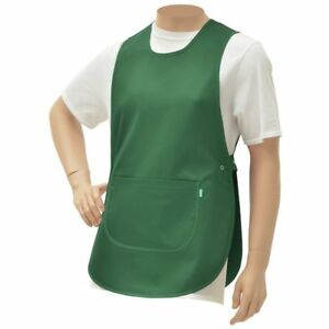 Hubert Cobbler Apron Green Poly Cotton 30 l X 19 w