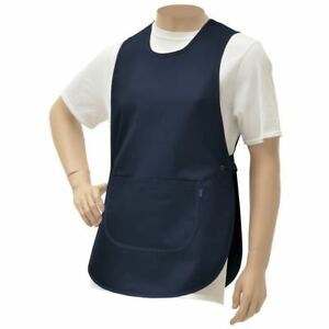 Hubert Navy Blue Poly Cotton Cobbler Apron 30 l X 19 w